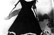 """Katyna Ranieri during the SanRemo festival where she presented """"La canzone da Due Soldi"""""""