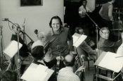 "Fono Roma recording studio, during recording of the movie ""L'avvertimento"" by Damiano Damiani"
