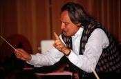 Riz Ortolani while he rehearses