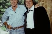Robert Redford y Riz Ortolani con ocasión del Concierto en la Academia del Cine de Redford en Sundance, Salt Lake City
