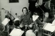 Estudio de grabación Fono Roma, durante la grabación de la película L'avvertimento de Damiano Damiani