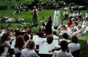 Riz Ortolani con la Orquesta Sinfónica de la Motion Picture Academy de Robert Redford en el Salt Lake City de Sundance, EE.UU.