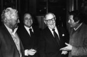 Dino Risi, Riz Ortolani, Benny Goodman y Marcello Mastroianni