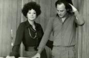 Katyna y Riz en el estudio de grabación de Fono Roma, durante la grabación original.