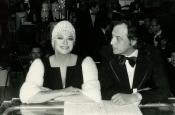 Katyna Ranieri e Riz Ortolani durante la trasmissione televisiva