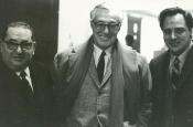 Joe Levine, Vittorio de Sica e Riz Ortolani - Produttore, regista e musicista del film