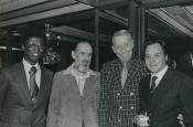 da dx: Riz ortolani, Stan Kenton e due produttori di Hollywood