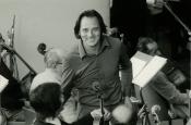 Studio di registrazione Fono Roma, durante l'incisione del film