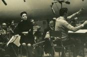 Katyna Ranieri e Riz Ortolani in sala di incisione